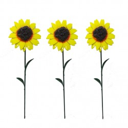 Pack Of 3 Sunflower Garden Ornamental Stakes Foutasia