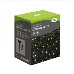 Smart Solar 50 White LED String Lights Solar Powered