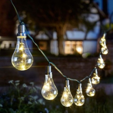 Eureka Light Bulb String Solar Powered Outdoor Garden Lights 3.8M Smart Solar
