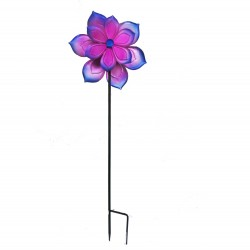 Pink Metal Windmill Stake Medium 110cm By Fountasia