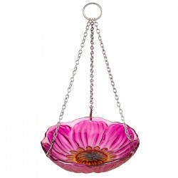 Peony Hanging Glass Bird bath/ Feeder Smart Garden
