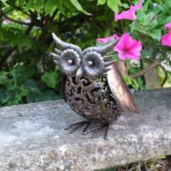 Silhouette Solar Owl Garden Ornament By Smart Solar
