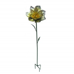 Silver & Gold Flower Garden Medium Stake ( H 133 cm) By Fountaisa