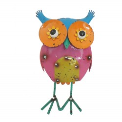 Ollie Owl Metal Colorful Fun Character Garden Statue Ornament Fountasia