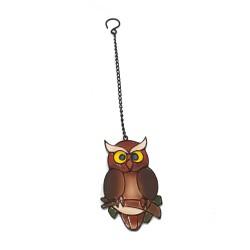 Hanging Crystal Resin Owl Indoor Outdoor Garden Ornament Xmas Gift Vivid Arts