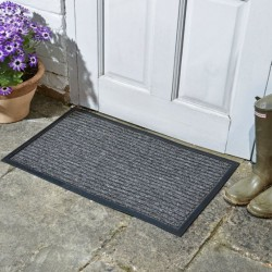 Outdoor Opti-Mat Door Mat Anthracite Striped Rubber Back 75 x 45cm Smart Garden