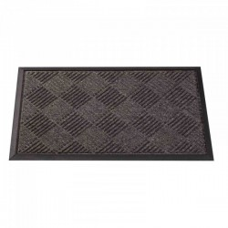 Outdoor Opti-Mat Door Mat Anthracite Chequered Rubber Back 75 x 45cm Smart Garden