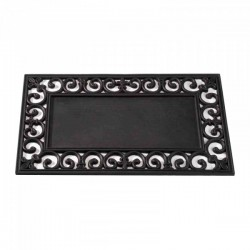 Black Rubber Frame For Insert For The Coir Mats Ideal For Inside Or Outside by Smart Garden