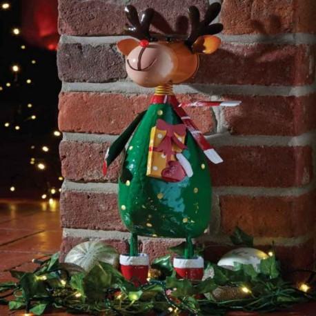 Christmas Polka Rudolph Garden Sculpture by Smart Garden ideal present for garden or home