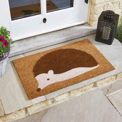 Spike the Hedgehog Coir Doormat Indoor Outdoor Door Mat 75x45cm