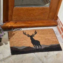 MONARCH STAG DECOIR GARDEN OR HOME DOOR MAT 75 X 45CM SMART GARDEN