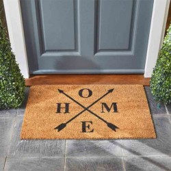 H-O-M-E HOME DECOIR GARDEN OR FRONT DOOR MAT 75 X 45CM SMART GARDEN
