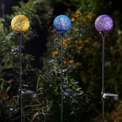 3 X solar Stakes Stellar Decor Colourful Bright Stake Lights 5 White LEDs Smart Garden