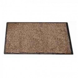 Framed Mocha Door Mat Highly Absorbent Outdoor Opti-Mat 80 x 60cm Smart Garden