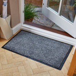 Framed Anthracite Door Mat Highly Absorbent Outdoor Opti-Mat 80 x 60cm Smart Garden