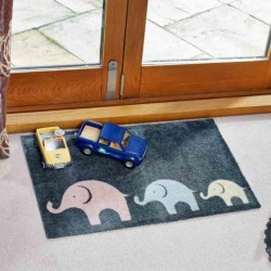 Elephant Door Mat Highly absorbent Non Slip Backing 75 X 45CM Smart Garden