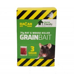 Racan Rat And Mouse GrainBait (75g)3x 25g Sachets Rodent Killer Home Friendly