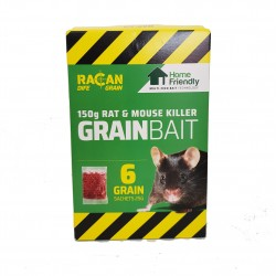 Racan Dife Grain Bait Sachets Rat and Mouse Killer 150g 6x25g Home Friendly