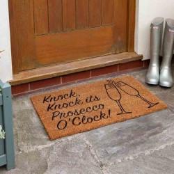 Prosecco Coir Door Mat For Indoor Or Outdoor Use