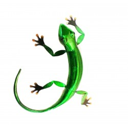 Wall Art Metal Gecko Ornament Green