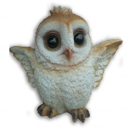 Cute Large Resin Barn Owl Flapping Ornament For indoor Or Outdoor Use