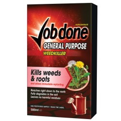 JOB DONE GENERAL PURPOSE WEEDKILLER 500ML CONCENTRATE KILLS WEEDS & ROOTS