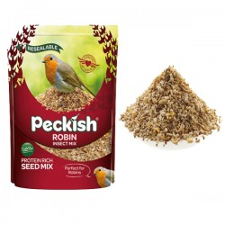 Robin Bird Seed and Insect Mix 2kg Resealable Bag by Peckish