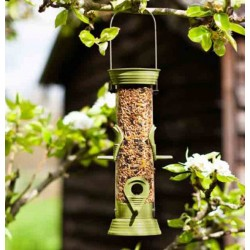 Hanging Supreme Seed Bird Feeder 30cm Holds 510g Durable Chapelwood Smart Garden