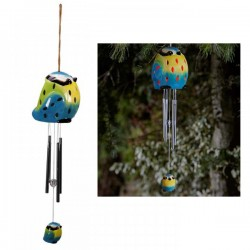 Smart Solar Ceramic Bluetit Wind Chime Light Solar Powered