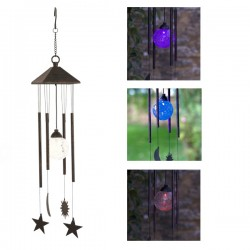 Smart Solar Sun Moon & Star Wind Chime Solar Powered
