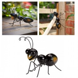 Medium Metal Ant Garden Wall Art Garden Ornament Indoor Outdoor Fence SG