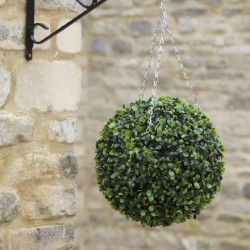 Hanging 30cm Green Boxwood Topiary Ball Decoration outdoor Or indoor Smart Garden
