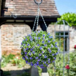 Hanging 30cm Lilac Lily Topiary Ball Decoration outdoor Or indoor Smart Garden