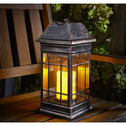 Smart Solar Seville Lantern Solar Powered Water Drop Glass