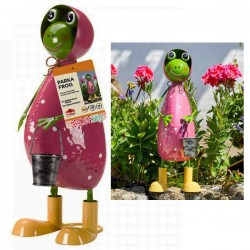 Parka Frog Garden Ornament Outdoor Metal Fun Colourful Statue Smart Garden