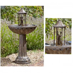 Smart Solar Dancing Couple Fountain Garden Water Feature