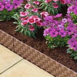2.4m Faux Rattan Plastic Lawn Edging Smart Garden Outdoor Garden Lawn Edging