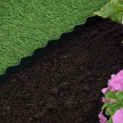 15cm x 10m Plastic Lawn Edging Smart Garden Outdoor Garden Roll Out Lawn Edging