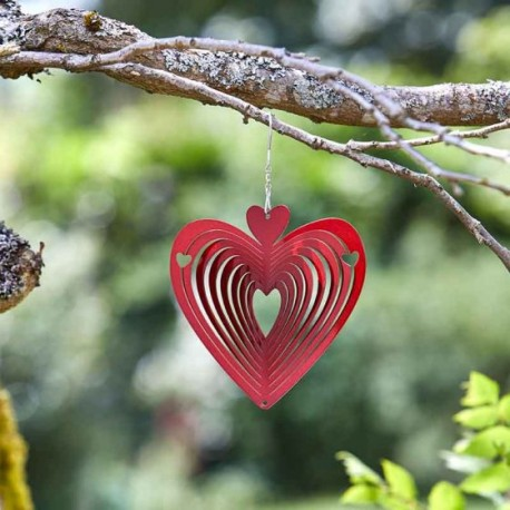 Very Cute Heart Of Hearts Shimmering Glitter Garden Wind Spinner Smart Garden