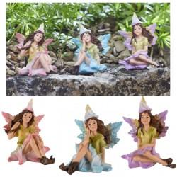 Set Of 3 Cute Fairy Garden Ornament Flower Nymph Indoor Outdoor Figurines
