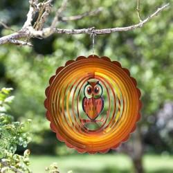 Mesmerising Holographic Owl Garden Wind Spinner 30cm Smart Garden