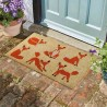 6 Vixens Fox Coir Door Mat For Indoor Or Outdoor Use