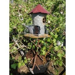 Cute Make Believe Fairy Kingdom Flower Pot House Garden Decor Great Gift Idea