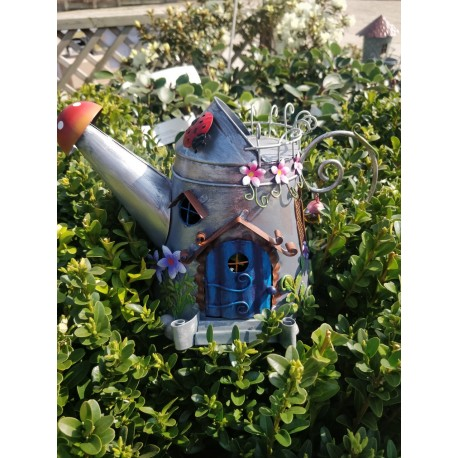 Sweet Magical Watering Can Fairy House Make Believe Garden Decor Great Gift Idea