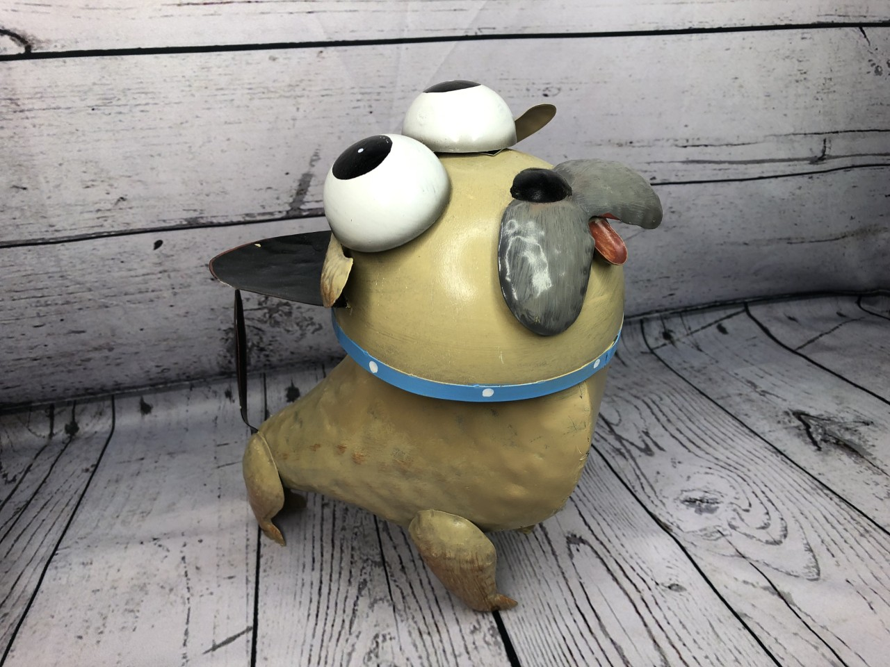 Funky Pet Dave The Dog Metal Garden Or Home Ornament By Fountasia