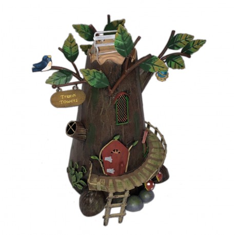 World of Make Believe Trunk Towers Magical Fairy Garden House Pixie World