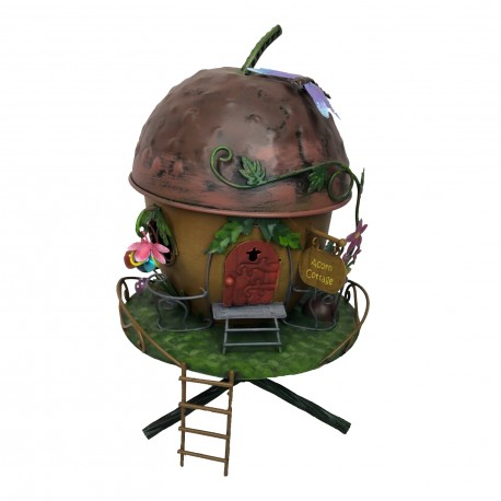 World of Make Believe Acorn Cottage Magical Fairy Garden House Pixie World