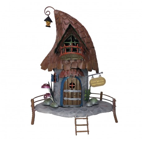 World of Make Believe Pixie Willow Hat Magical Fairy Garden House Pixie World