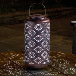Smart Solar Fez Garden Lantern Solar Powered Silhouette Effect