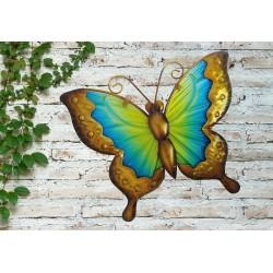 Creekwood Colourful Butterfly Metal Glass Garden Wall Art